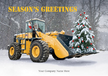 Handle with Care Contractor Holiday Cards